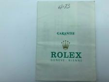 GENUINE ROLEX Datejust 69173 watch warranty guarantee 1984' 0305006#m