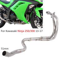 Full Exhaust System Header Tube Front Pipe Link For Kawasaki Ninja 300 250 EX300