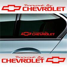 2 POWERED BY CHEVROLET Chevy Stickers Decals Camaro sticker Corvette (#TSH) RED