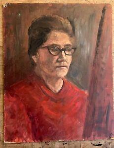 Marika Eversfield (1914-2014) - 20th Century Oil, artist self portrait?