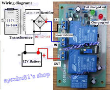 12V 30A Solar panel Battery Charging Power Supply Protection Board Relay Control