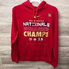 Nike Mens Small 2019 Washington Nationals World Series Champs Hoodie Sweatshirt