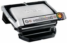 T-Fal OptiGrill Plus Stainless Steel 1800W Indoor Electric Cooking Grill New