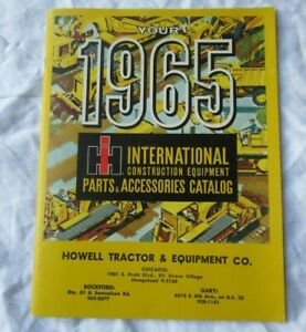 1965 IH International construction equipment parts accessories catalog brochure