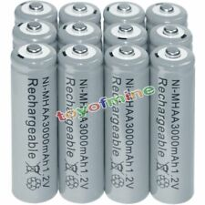 12x AA battery batteries Bulk Nickel Hydride Rechargeable NI-MH 3000mAh 1.2V Gra
