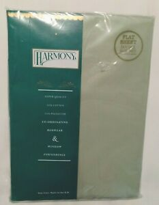 Pistachio Flat Sheet for Double Bed 230 x 254cm Harmony Vintage Made in UK