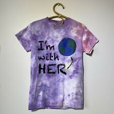 Small Womans I'm With Her Mother Earth Tie Dye Tee T-Shirt