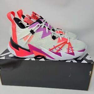 New Jordan Why Not Zero 3 SE Sail Black Spruce Aura Men's Sz 10 Shoes CK6611-101