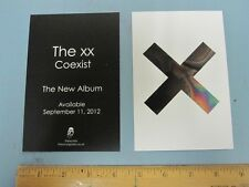 THE XX 2012 COEXIST 2 sided promotional postcard New Old Stock Mint Condition