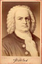 Opera, composer Johann Sebastiaan Bach photography , autograph 1880 Cabinet cdv