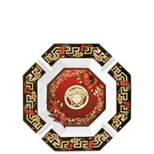 """VERSACE BY ROSENTHAL, GERMANY  """"CHRISTMAS BLOOM"""" ASHTRAY, 9 1/2  INCH."""