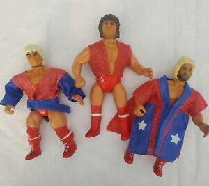 3 Vintage 1985 REMCO AWA Fabulous Freebirds Wrestling Figures with Robes NICE