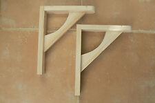 """Wooden Shelf Brackets x 2 (Ideal for 8"""" - 10"""" Shelves)"""