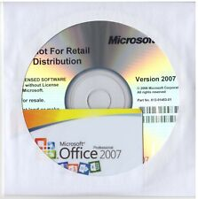 Office Professional 2007 Full Installation Cd & Product Key Card