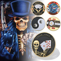 Poker Card Guard Protector Casino Playing Card Chip 24k Gold Many Designs