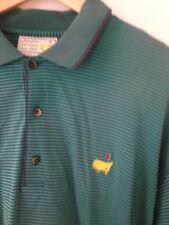 Augusta National Golf Shop Masters Slazenger XL Polo Green Purple Striped Shirt