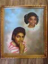 Vintage Michael Jackson W/Friend Painting