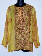 Étnico Indio Hindú Estampado Camisa de manga larga OM Buda Ganesh Krishna Shiva