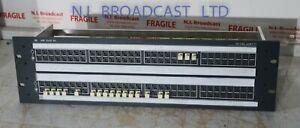 1x Ghielmetti USF 2x32AV t audio jackfield patch panelAES and analog
