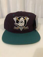 Vintage NHL Anaheim MIGHTY DUCKS Snapback Adjustable Hat NEW Deadstock Hockey