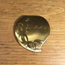 Vintage Elgin American Heart Shaped Goldtone compact monogram J. M. S.