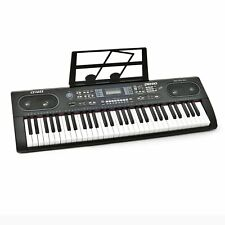 Plixio 61 Key Electronic Music Keyboard Piano- LED Display, Stereo & USB Input