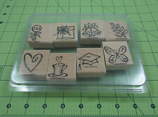Stampin Up Sketch An Event Stamp Set of 8 Butterfly Wedding Graduation Coffee