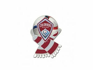 Colorado Rapids MLS WinCraft Red & White Soccer Scarf Metal Lapel Pin