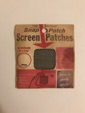 """""""The Original Snap Patch� Screen Repair - (5) 2� x 2 3/8� Patches - Unused, Nos"""