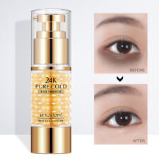 24K Gold Eye Cream Gel Anti Dark Circle Wrinkle Remove Firming Essence Collagen