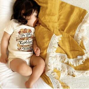 Cotton Muslin Soft Swaddle Blanket Cradling Baby Newborn Wrap Bedding Bath Towel