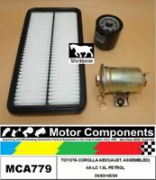 FILTER SERVICE KIT FOR TOYOTA COROLLA AE93(AUST. ASSEMBLED) 4A-LC 1.6L PETROL 06