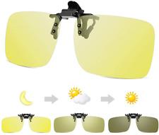 Fotocromatiche guida notturna occhiali CLIP ON, HD giorno + visione notturna Polarized FLIP-UP