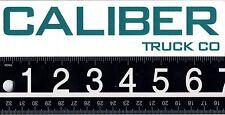 CALIBER TRUCK CO SKATEBOARD STICKER 7 in. x 1.75 in. Green Skateboard Decal