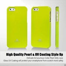 iPhone 5/5s and SE 2016 Genuine MERCURY Goospery Metallic Lime Green Jelly Case