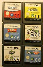 lot de 6 cartouches jeux ds my sims EUR : kingdom, sims 2, sims 3, agents, ...