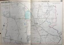 ORIG 1950 MAIN LINE, CHESTER CO. PA, WILLISTOWN TWP, RADNOR HUNT CLUB, ATLAS MAP