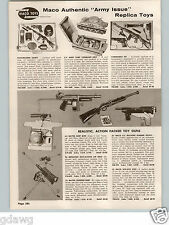 1958 PAPER AD Toy Guns Mattel Burp Thunder Maco Ack Ack Air Rifle