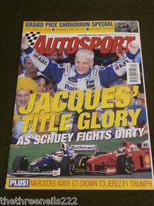 AUTOSPORT -  JACQUES TITLE GLORY - OCT 30 1997