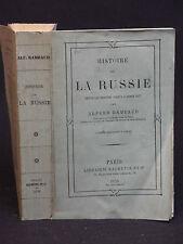 HISTOIRE DE LA RUSSIE depuis les origines jusqu'à l'année 1877 - Alfred RAMBAUD