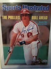 Greg Luzinski Signed Sports Illustrated Photo Philadelphia Phillies Baseball JSA