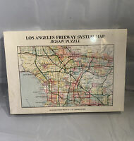 Los Angeles Freeway System Map Jigsaw Puzzle Gameophiles Vintage Cool CA 7213