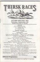 Racecard - Thirsk 4th September 1993 Autumn Meeting