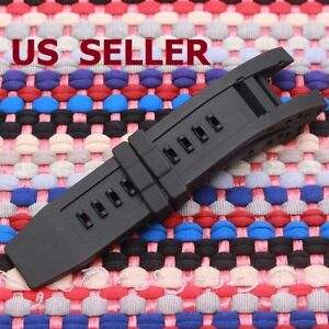US SHIP Silicone Rubber Watch Band Strap For Subaqua Noma IV 6564 Black