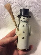 Old German Christmas Snowman Candy Container
