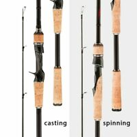 Ultra Light Carbon Bait Lure Casting Spinning Travel Sea Rock River Fishing Rod