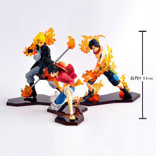 One Piece Set Of 3pcs PVC Figure Toy Anime Collection Figures New First