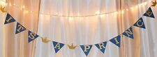 its a boy baby shower royal blue/ gold prince/crown hanging banner