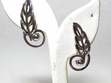 Barclay Vintage Silver Tone Clip On Earrings