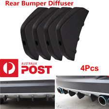4x Universal Car Rear Bumper Diffuser Kit PVC Shark Fin Style Molding Spoiler AU